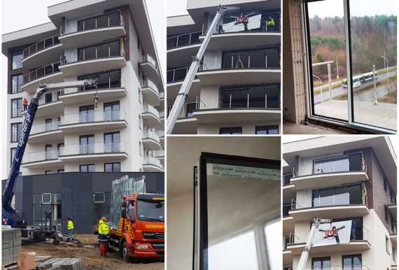 montaż fasad aluminiowych DMD okna i drzwi